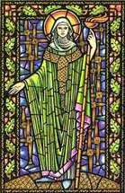 Image of St Bridgit from A Little Book of Celtic Saints